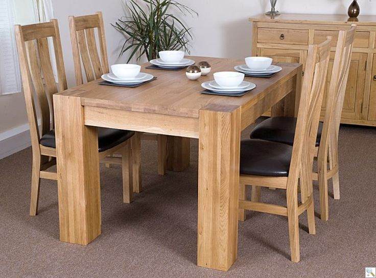 Washington 140cm Table With 4 Colorado Chairs · Solid OakDining ...