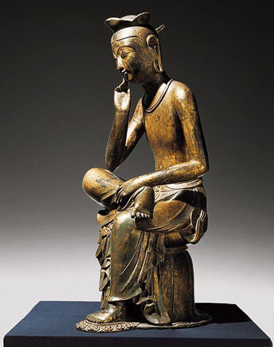 Maitreya Buddha Bangasayusang - the future Buddha contemplating compassion