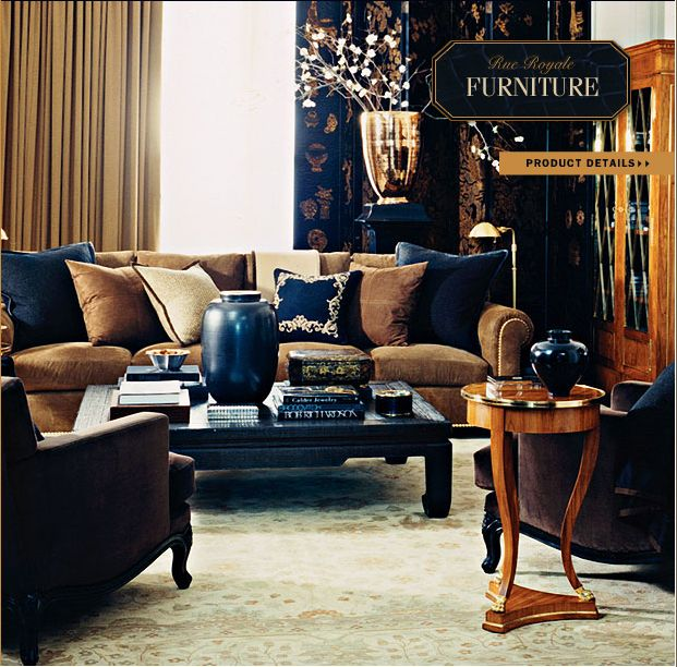 Ralph Lauren Home Rue Royale Collection Tan And Black Neoclassical Elegant Traditional Style