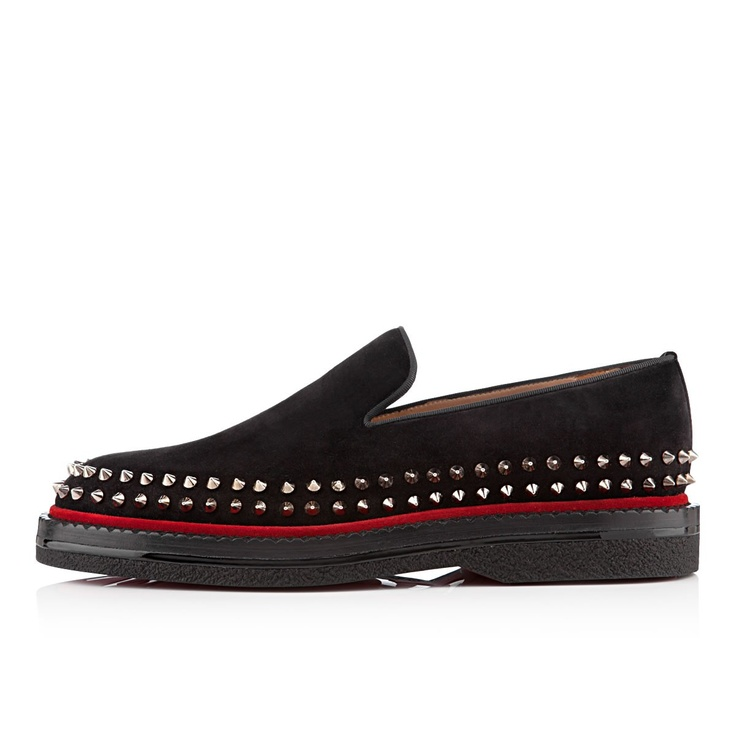 Christian Louboutin /Fredapoitiers mens flat black suede