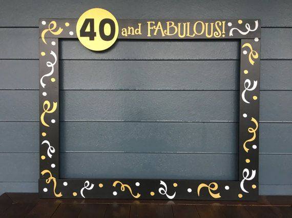 Photo Booth Frame  40th Birthday Party Prop   by PalletCreatives