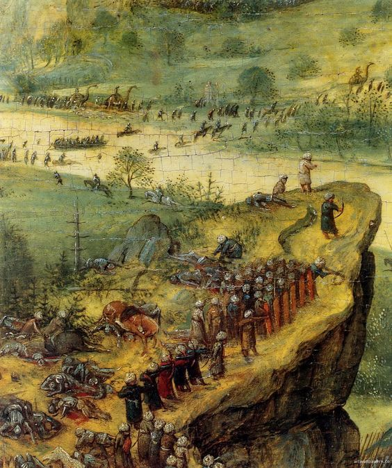 Does this painting suggest medieval battles were fought ...