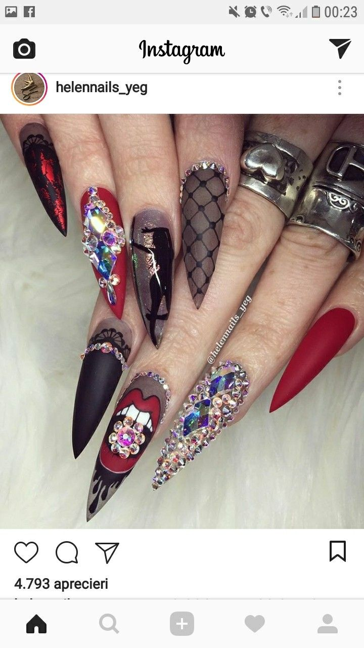 177 best bling nails images on Pinterest | Nail art, Nail scissors ...