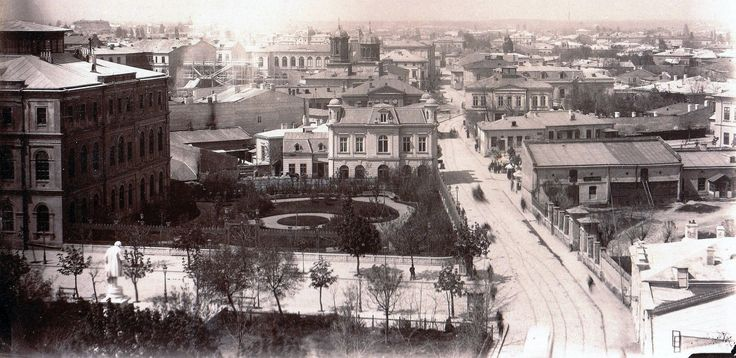 Panorama spre Piata Universitatii, din Turnul Coltei, 1881