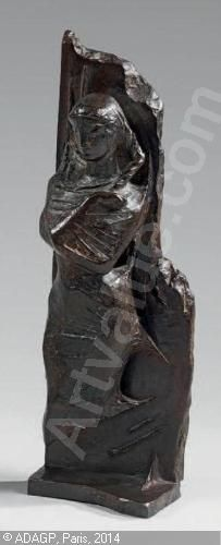 OUDOT Georges - Bas-relief «Femme»