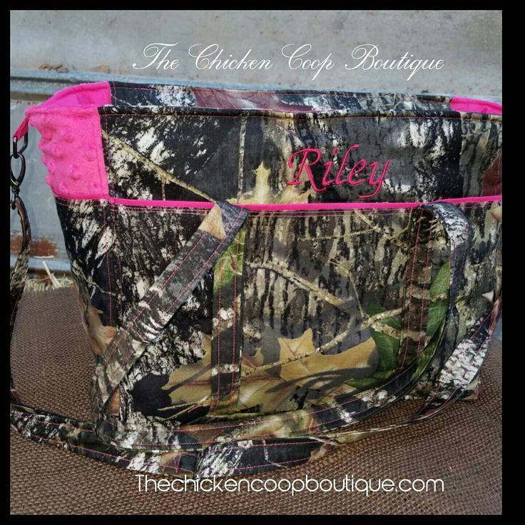 Diaper bag w/Free Personalization soft minky Boutique Mossy Oak camo Diaper bag by ChickenCoopBoutique on Etsy