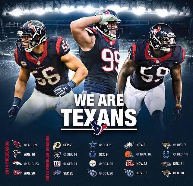 Houston Texans 2014 Schedule