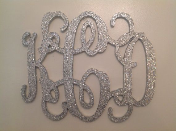 Large Silver Letters For Walls 18 Inch Rhinestone Monogram Silver Bling Decorativesastara