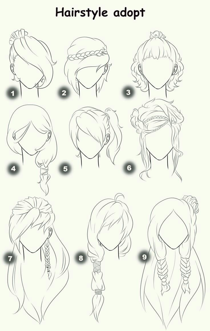 Hairstyle - drawing