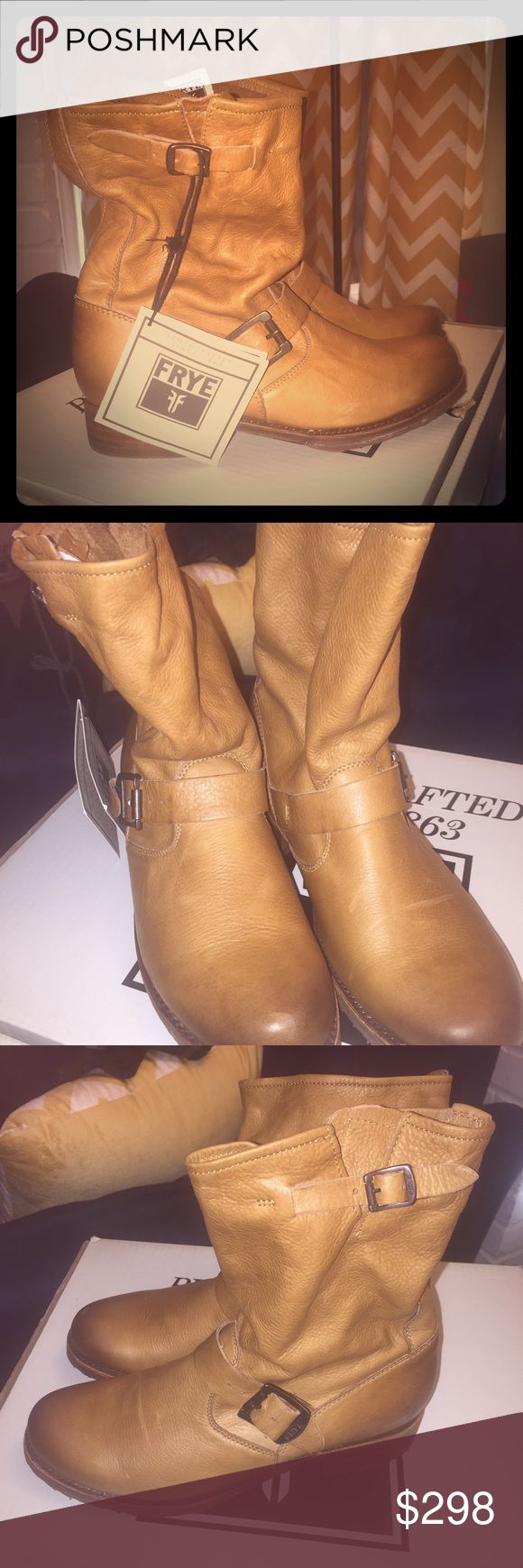 Frye Veronica Slouch Leather Boot New Frye Shoes Ankle Boots & Booties