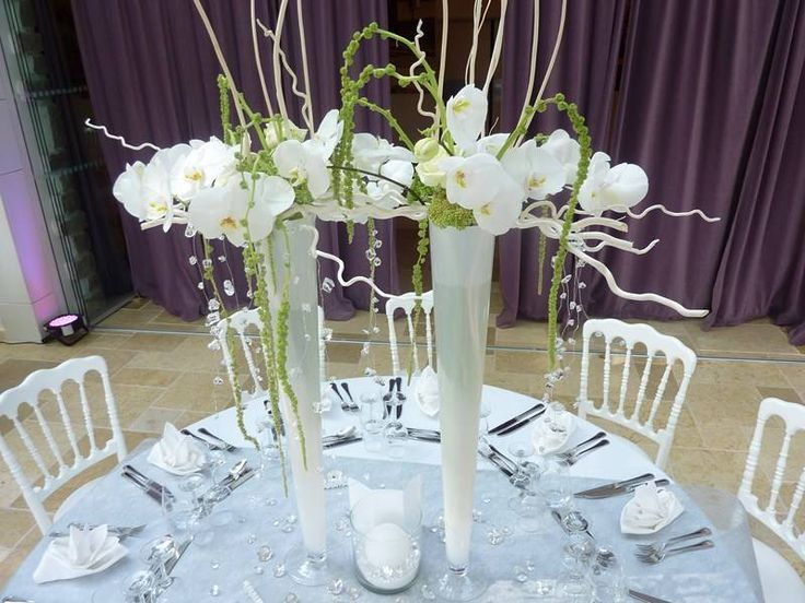 1000 ideas about composition florale on pinterest arrangements floraux co - Decoration pour reception ...