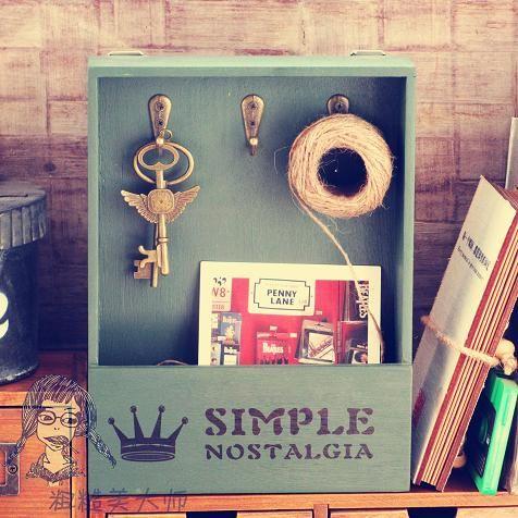 ZAKKA продуктовые ретро деревянные завесы коробка ключ стены из старой коробки хранения древесины кабинет дом хранение - Taobao