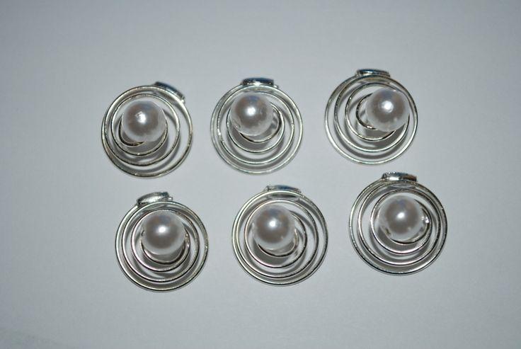 6 Perlencurlies mit 8mm Perlen viele Farben von fashion-dekoatelier auf DaWanda.com