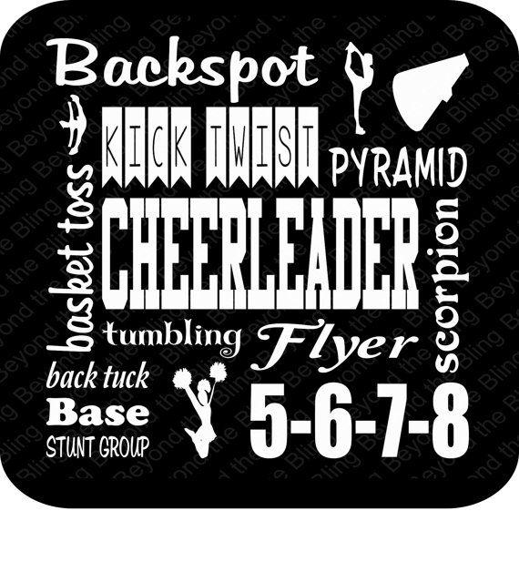 Cheerleader vinyl download cheer DIY vinyl by BeyondtheBlingUSA
