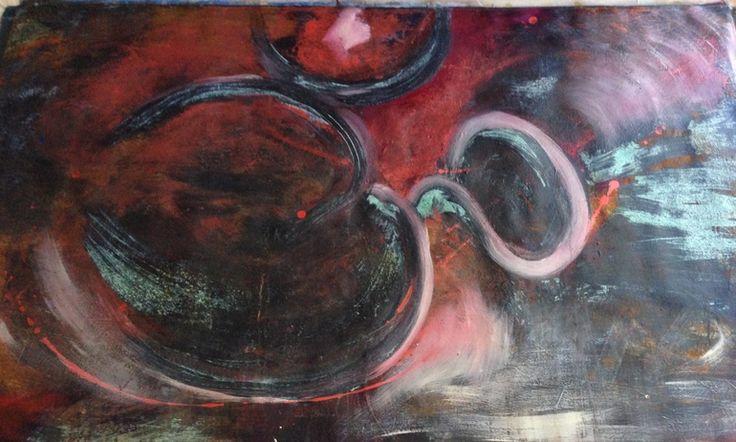 "Saatchi Online Artist: Patricia Chaparro; Acrylic 2008 Painting ""OM"""