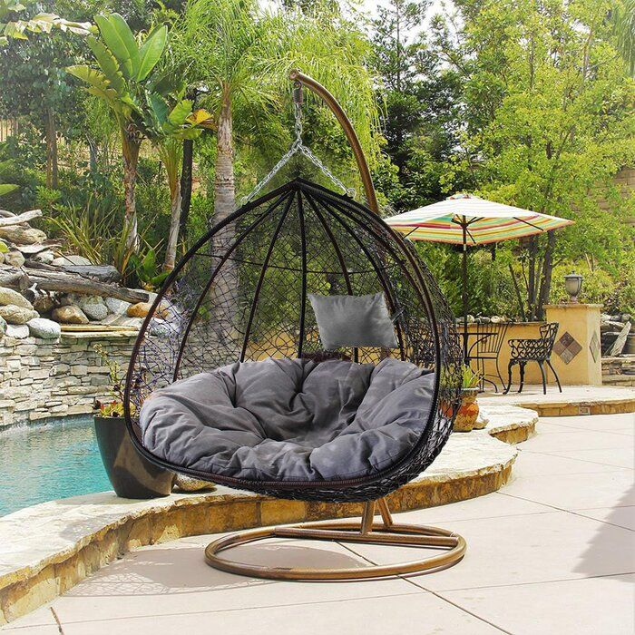 Patio Swing Chair, Outdoor Swing Seat With Stand