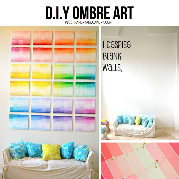 #DIY #OMBRE Wall Art From Paint Samples