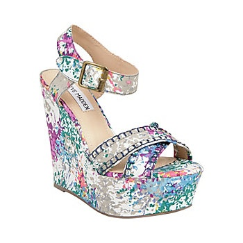 Wishful: Floral Wedges, High Wedges, Multi Woman, Summer Shoes, White Multi, Steve Madden, Stevemadden, Woman Sandals, Sandals High