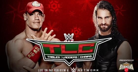 John Cena faces Seth Rollins in a Tables Match at #WWE TLC 2014.