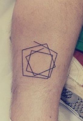 Minimalist Tattoo-step outside the box/break free from the box mold meaning maybe?