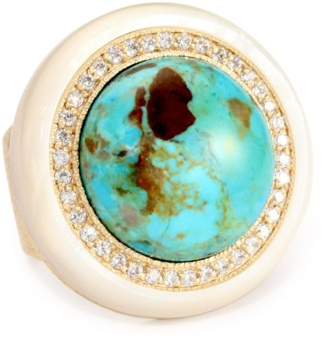 ANDARA Magnesite Turquoise Gumball Ring |Pinned from PinTo for iPad|