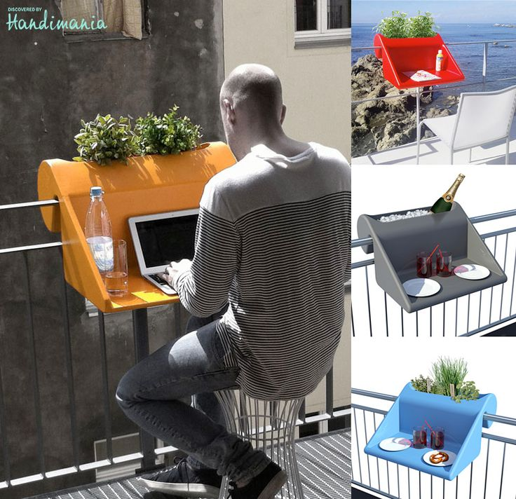 The Hook-On Balcony Desk lots of clever ideas and products for small