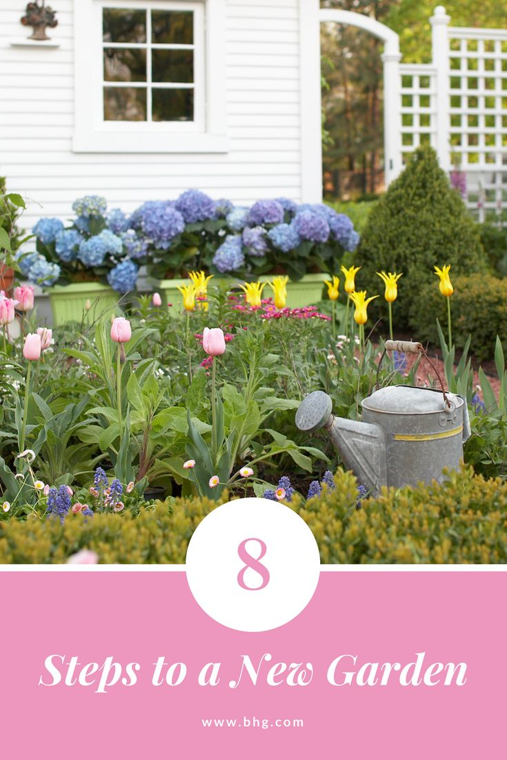 Starting a garden from scratch? In just eight steps, we'll show you how to make your new garden the best it can be. #gardening #landscaping #newgarden #curbappeal