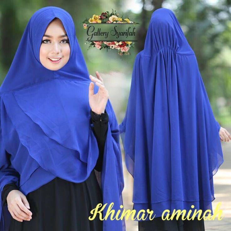 Aminah Instant Hijab One Piece Khimar Amira Slip On Scarf Abaya Islam Muslim