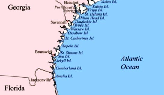 Map Of Georgia Beaches Georgia Pinterest Atlantic Ocean - Georgia map beaches