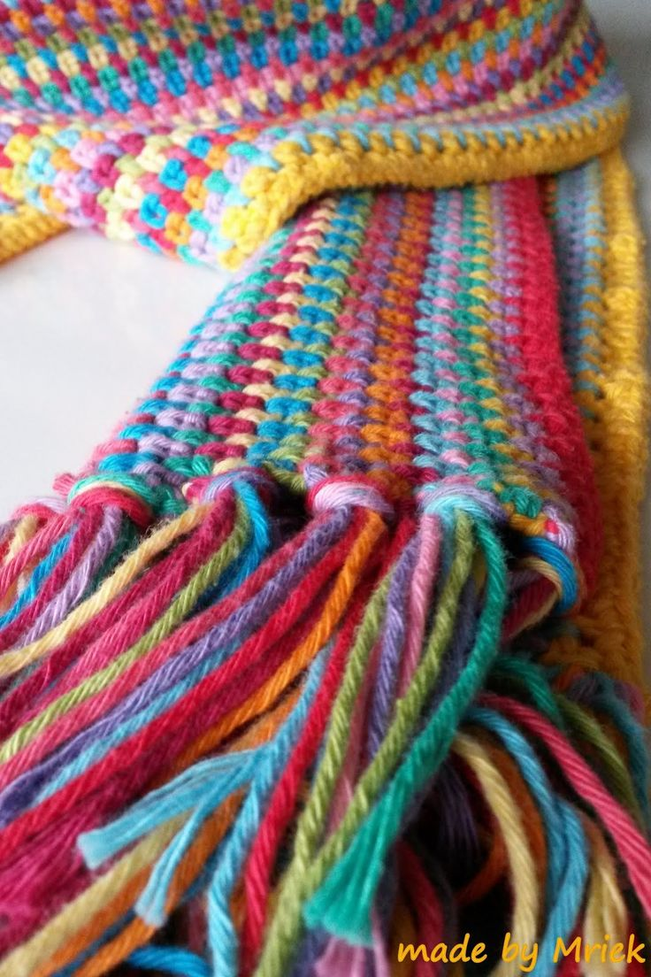Moss stitch scarf | Crochet Scarves 2 | Pinterest
