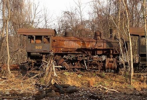 Abandoned steam locomotive.... :( someone needs to adopt this engine as a restoration project...