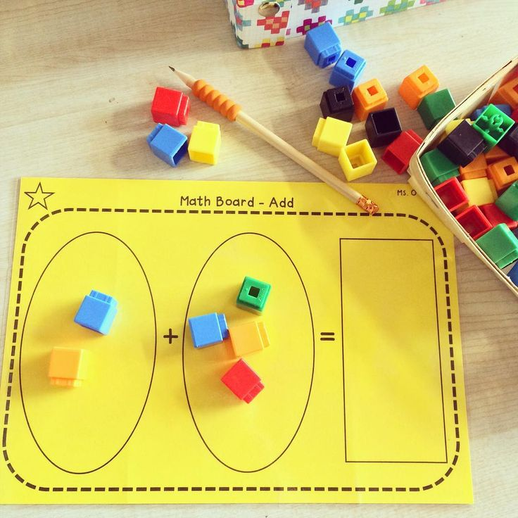 2 + 4 = 6  the children place a number of cubes into the two circles and when we are all ready we push the cubes into the box and count! I've found that this is a great way to teach children the terminology of addition too! #teachersofinstagram #teach #math #iteachtoo #teachersfollowteachers