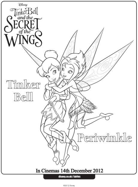 Tinkerbell and Periwinkle colouring page