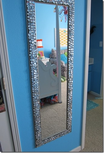 chunky blinged out mirror queenie eileenie interior. Black Bedroom Furniture Sets. Home Design Ideas