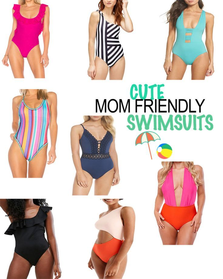 Mom Friendly Swimsuits For Keeping Up With Those Toddlers Running And Tugging On You One Pie Mom Bikini Cheeky One Piece Swimsuit One Piece Swimsuit Slimming