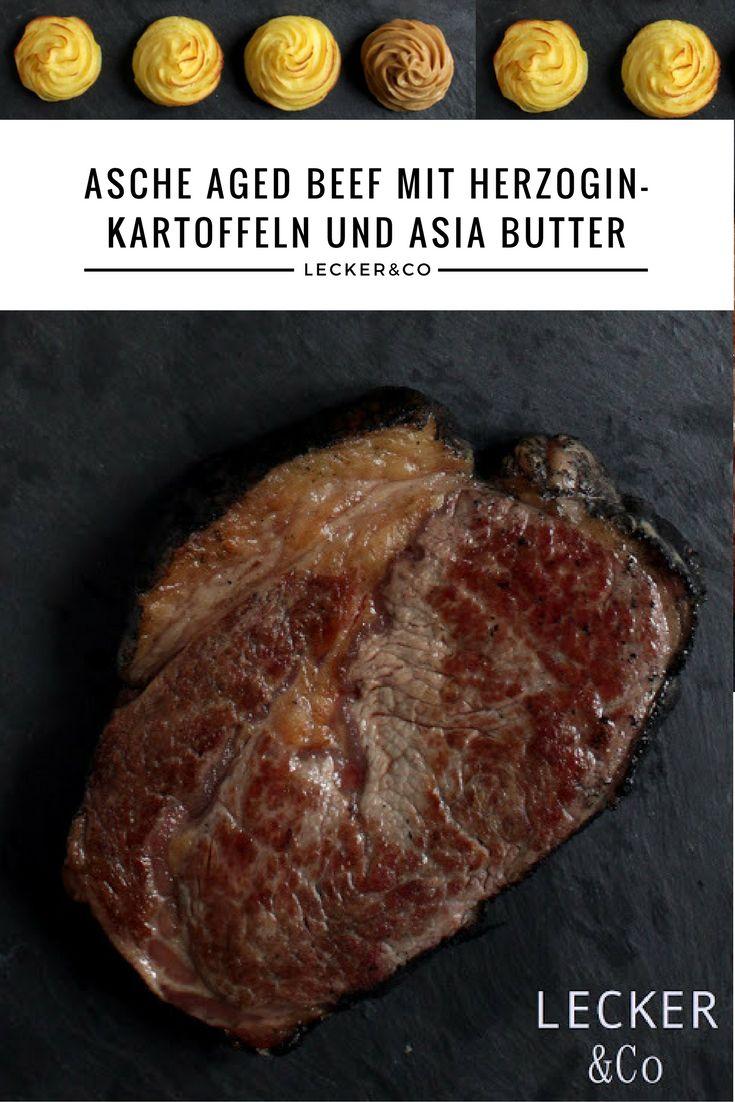 Asche Aged Beef mit Herzoginkartoffeln und Asia-Butter