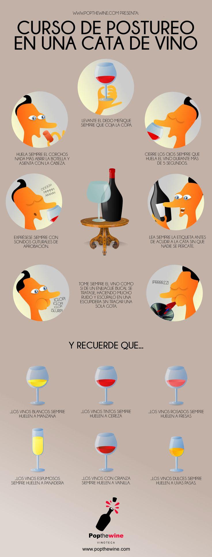 Curso de postureo en una cata de #vino: https://popthewine.wordpress.com/2016/01/19/curso-de-postureo-en-una-cata-de-vino/