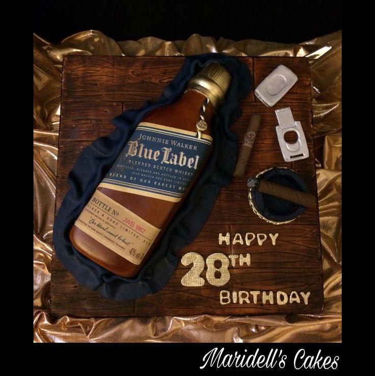 Johnnie Walker Blue Cake Birthday Cakes For Men Bithday