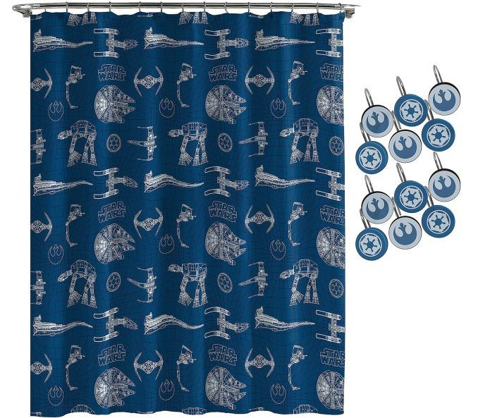 Star Wars Vehicles Shower Curtain Set Star Wars Shower Curtain