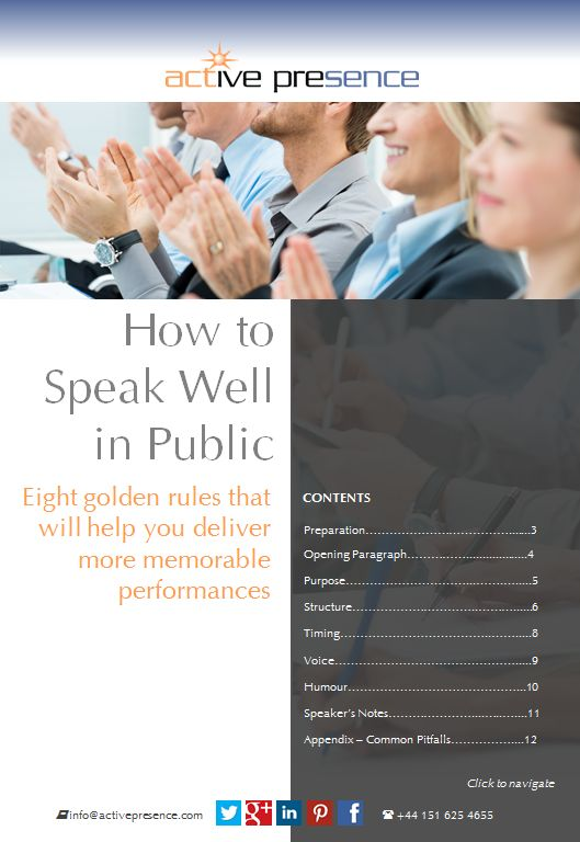 public speaking skills Public speaking is fundamental to success in professional and public life we'll empower your interpersonal skills using role-play exercises and structured discussions.