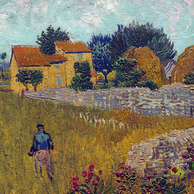 Farmhouse in Provence(detail)byVincent van Gogh | Lone Quixote