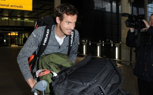 Andy Murray back in UK to be with pregnant wife Kim Sears...
