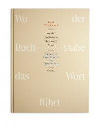"""""""Wo der Buchstabe das Wort führt"""" Kurt Weidemanns »Ansichten über Schrift und Typographie« sind das beeindruckende Ergebnis eines über Jahrzehnte erlebten und reflektierten Berufslebens als Schriftsetzer, Typograf, Autor, Lehrer und Berater. Es ist kein Typographielehrbuch, sondern ein Bilderbuch und Lesebuch, ein Blätterbuch und Denkbuch. Prof. Dr. Hellmuth Karasek: »Das ist kein Fachbuch; es ist ein Kunstwerk.«"""