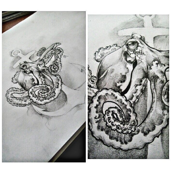 #ahtapot #çizim #çizimlerim #octopus #draw #drawing #drawings #art #artwork #sketch #dövme #dövmesanatı #tattooart #tattoodesign..