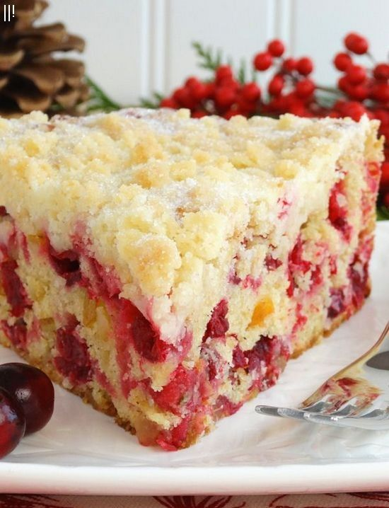 Christmas Cranberry Buckle with Sugar Cookie Streusel gluten free option