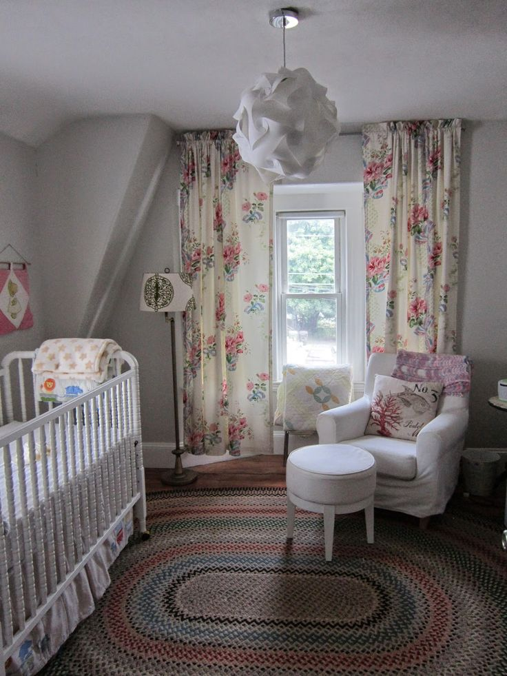 Fresh Basil: The Nursery; crib is the DaVinci Jenny Lind from Target, curtains were a fantastic find from Pine Cone Hill Outlet