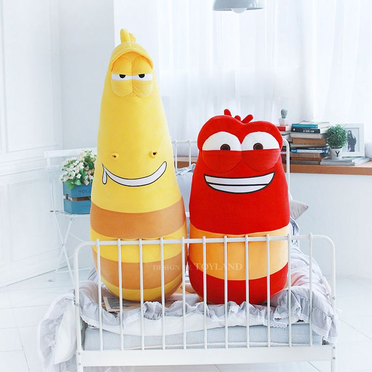 "Korea Animation Larva Official Goods Giant Plush Toy Character Doll 47"" (2Types) #Larva"