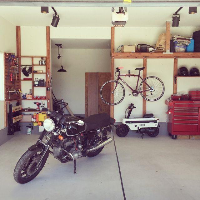 nekobaiさんの、DIY,ガレージ,工具箱,バイク,ガレージライフ,2×4材棚,のお部屋写真