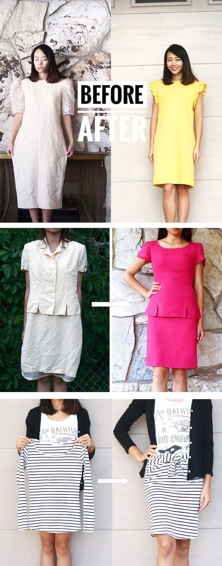 DIY mom Sarah Tyau has a knack for refashioning clothes // thrift store refashioning // upcycled clothing
