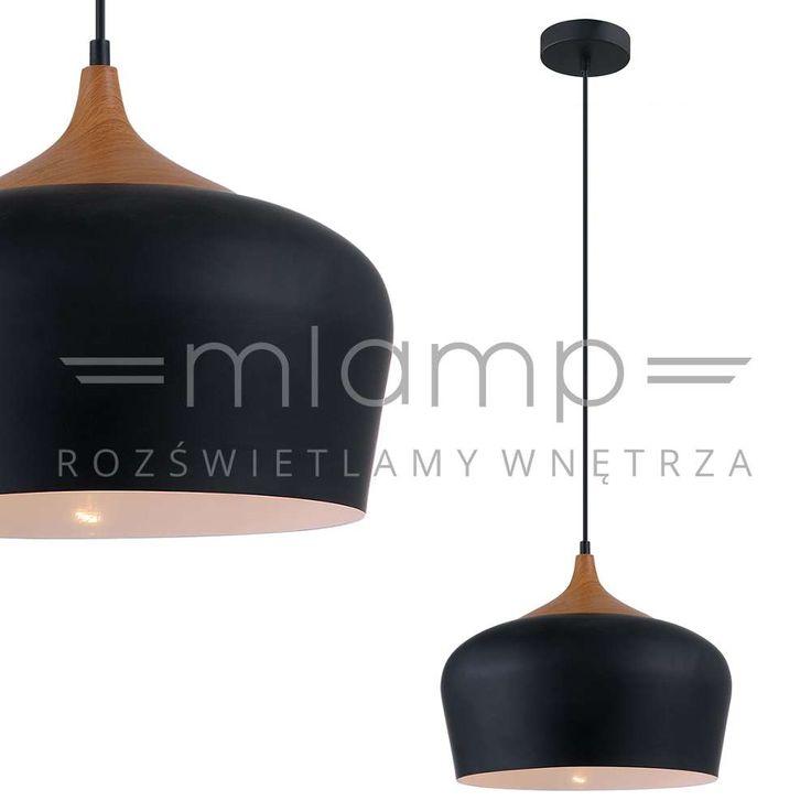 LAMPA wisząca BRITTA MDM-2681/1L BK Italux metalowa OPRAWA zwis czarny 37cm
